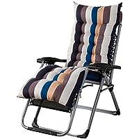 Househome cojín Chaise Longue Lijado Silla clásica Mate Suave para baño de Sol transat jardín Relax Lounge Epais