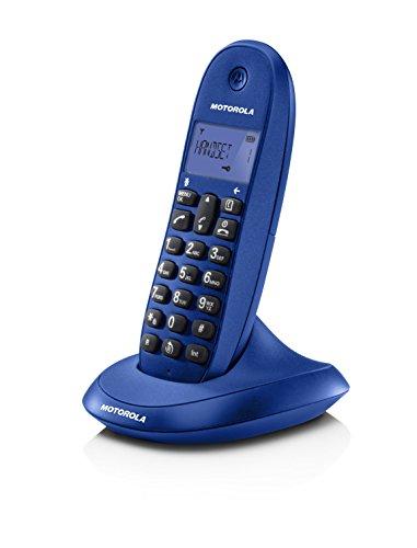 Motorola C1001L - Teléfono inalámbrico, color azul