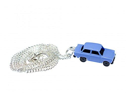 Miniblings Trabi Kette Halskette 45 cm Miniatur Auto Trabant Fahrzeug Pkw blau