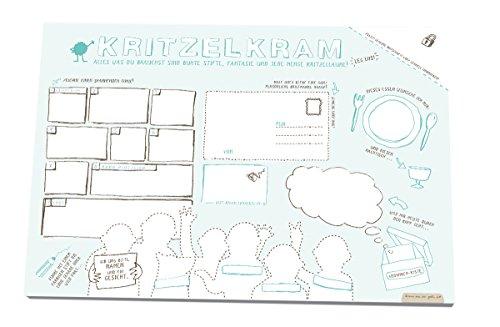 Kritzelblock für Kinder Schreibtischunterlage Malblock zum Abreißen Malbuch A3 (30 x 42 cm), 25...