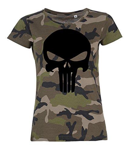 TRVPPY Damen Camouflage T-Shirt Modell