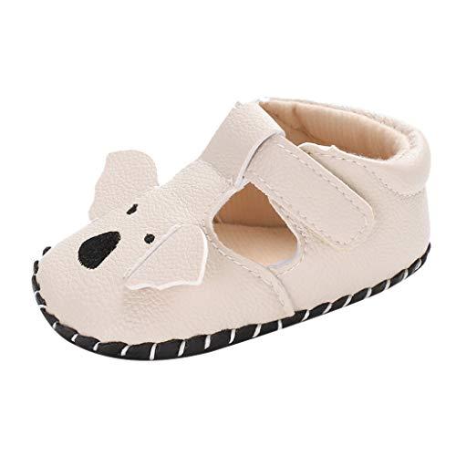 Babyschuhe cinnamou Sommer Sandale mit weichen Sterne Krippe Schuhe Baby Leder Lauflernschuhe Junge Mädchen Kleinkind 0-6 Monate 6-12 Monate 12-18 Monate (12~18 Monate, Beige) (Größe Gladiator 12 Sandalen)