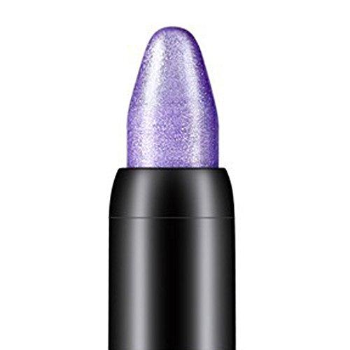 Lidschatten Schönheit Wasserdicht Eyeliner Creme Eye Liner Stift Bleistift Lidschatten Gel Make-Up 24h Lidschatten & Liner Schönheit Highlighter Lidschattenstift (Lila)