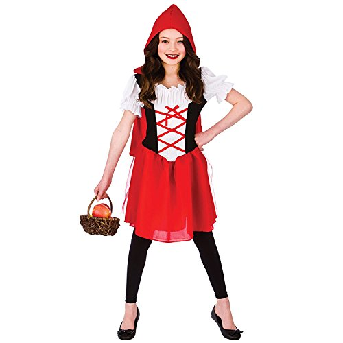Riding Little Hood Kids Red Für Kostüm - Little Red Riding Hood (5-7) Girls Fancy Dress Costume