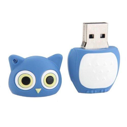 SODIAL(R) 64GB tarjeta de memoria USB 2,0 Pen Drive Flash Clave Forma buho azul