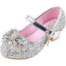 Mitlfuny Zapatos de Baile de Tango Latino para Niños Bailarina Vestir  Fiesta Arco Princesa Sandalias Rhinestone 645053d18829