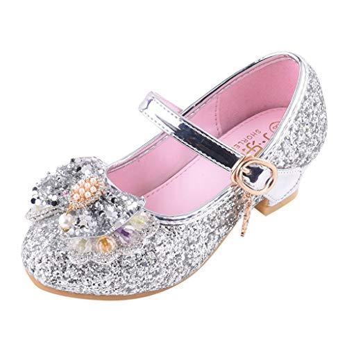 Mitlfuny Zapatos de Baile de Tango Latino para Niños Bailarina Vestir Fiesta Arco Princesa Sandalias...