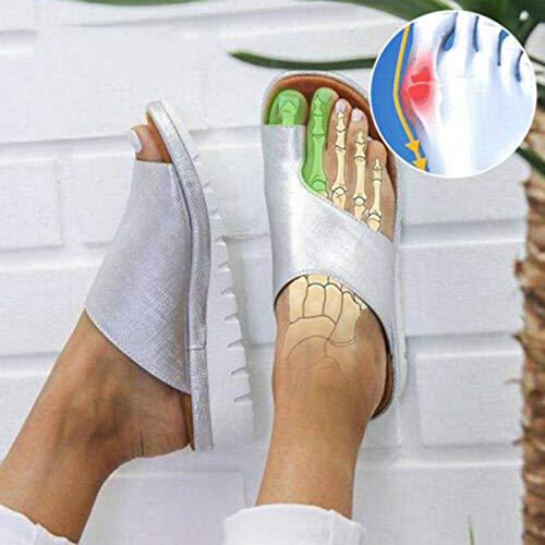 Fousamax Bunion Splints, Damen Korrektursandalen Große Zehe Hallux Valgus Unterstützung Plattform Sandale Schuhe für die Behandlung - Unterstützen Sie Die Plattform