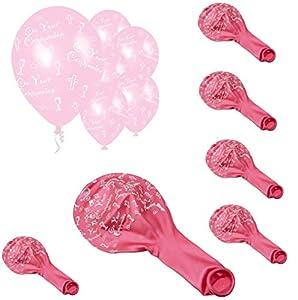 Shatchi Globos de látex rosa para fiestas, 6 unidades, decoración de comunión para niñas de 12 pulgadas, calidad de globos de helio