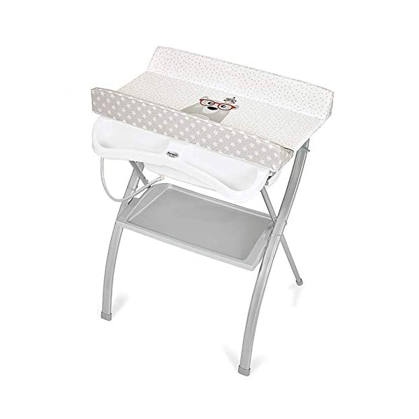 Changing Table Baby Changing Table Folding Station with Towel Rack Portable Diaper Organizer for Infant Cross Leg Style (Color : Gray) Changing Table ●Size and Safe and Stable- L74 x W48 x H100cm,Suitable for babies weighing less than 25kg,With seat belt,Changing pad has a restraining strap for added safety and is made of easy to clean, soft ●2-in-1 design- Baby changing table can be used as baby massaging table as well. It is designed at the proper height of parent to prevent mom's back aches and pains from kneeling or bending when changing diapers to babies. ●Premium materials - Using high-quality materials for our 2 in 1 infant changing table,Reinforced metal,it is durable and stable for long time daily use,And easy to clean and maintain. 1