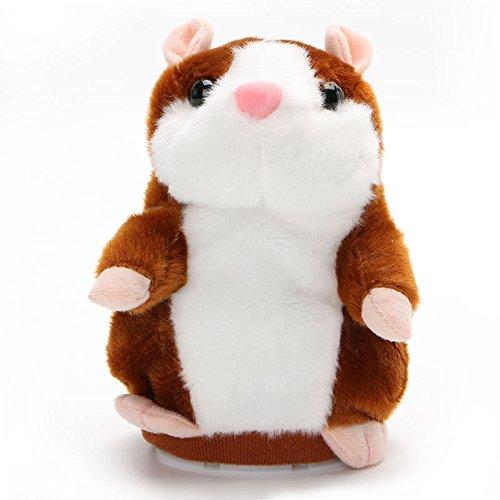 Hamster Sprechen Spielzeug (MagiDeal Plüsch Sprechen Hamster Spielzeug Recorder Nod Mimik Repeat Bewegung - Hellbraun)
