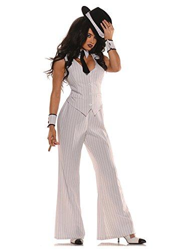 Mob Boss-Kostüm Damen Gr. S ()