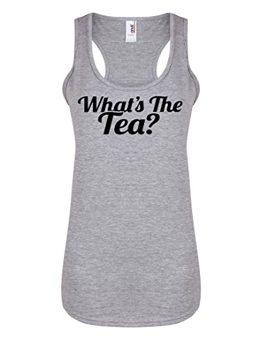 whats-the-tea-womens-racerback-vest-fun-slogan-tank-top-small-uk-size-8-10-light-grey-black