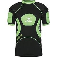 GILBERT Xact 10 V2 Chaleco protector para hombre, Negro/Verde, XL