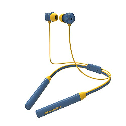 SU JIA Bluetooth-Headset ANC Active Noise Cancelling Sporthals Hängeohr-Musik-Headset,Blue