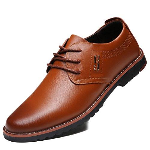 XIGUAFR Chaussure en Cuir Casual Souple Britannique Homme Chaussure de Ville D'étudiant