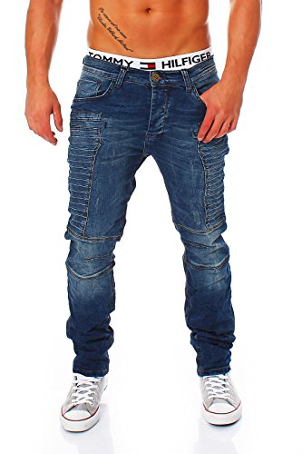 Redbridge by CIPO&BAXX Jeans mit auffälligem Nahtmuster und Slim Fit Passform M4034 blau Blau