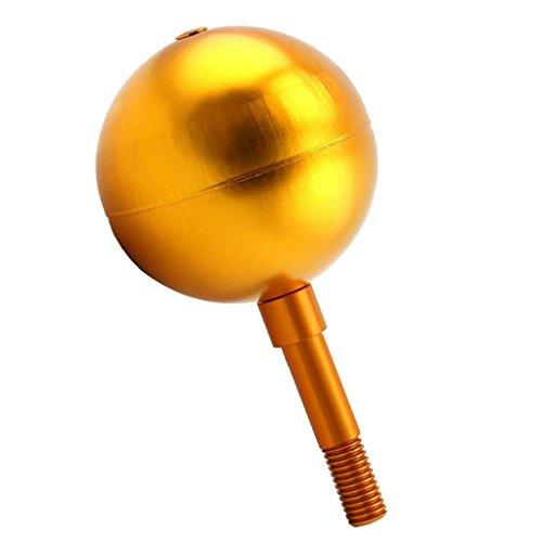 Fenteer 42 LED Fahnenmast Solar Lampen/Golen Flag Pole Ball - Flag Ball Top -