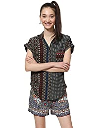 730f6fba6 Desigual Shirt Short Sleeve Azhar Woman Brown Camisa para Mujer