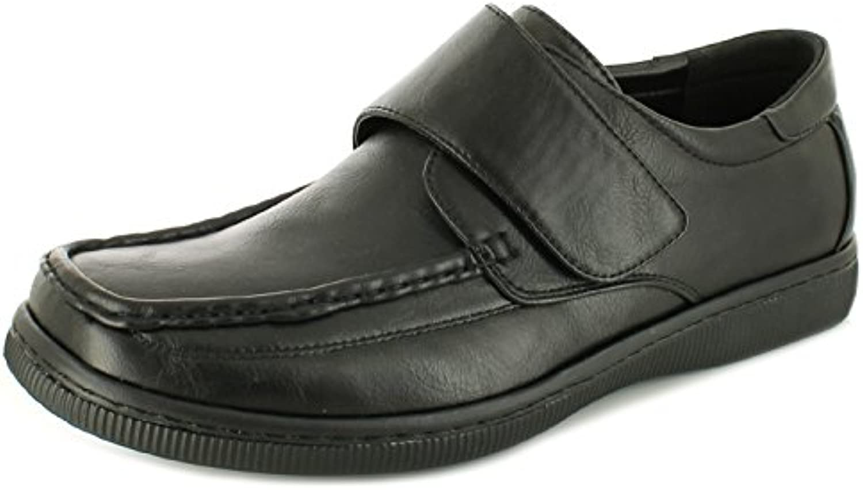 NEU Herren / Herren schwarz Croft Originals Albie Klettverschluss Schuhe schwarz   UK Größen 6 11