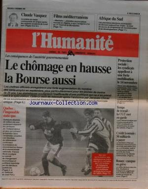 HUMANITE (L') [No 15931] du 01/11/19...