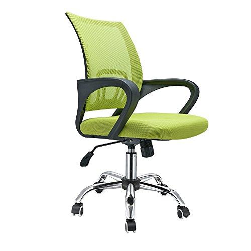PanaCasa   Silla de Malla Transpirable Giratorio de 360 Grados para Escritorio Oficina Dormitorio Verde