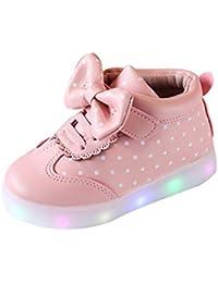 Chica Piedras del Strass Fashing LED Zapatos Luminosas Punto De Wave Cálido Botas De Bowknot Cremallera Lateral/Velcro Low Top Zapatos Estudiantes 2 Estilos