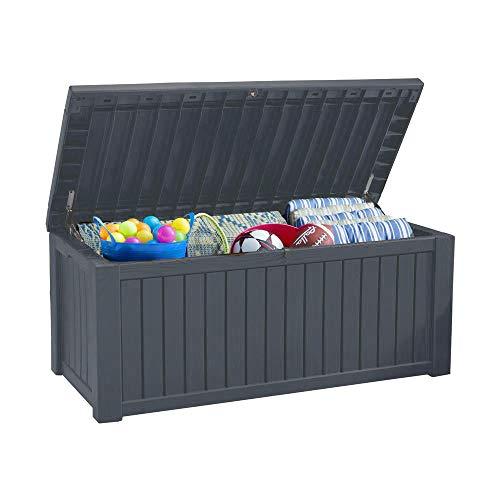 Koll Living Auflagenbox/Kissenbox 570 Liter l 100% Wasserdicht l mit Belüftung dadurch kein übler...