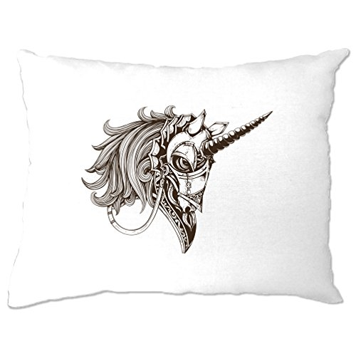 Gothic Armored Einhorn Alternative Graphics Design Cooler Kissenbezuge (Emo T-shirt Cool)