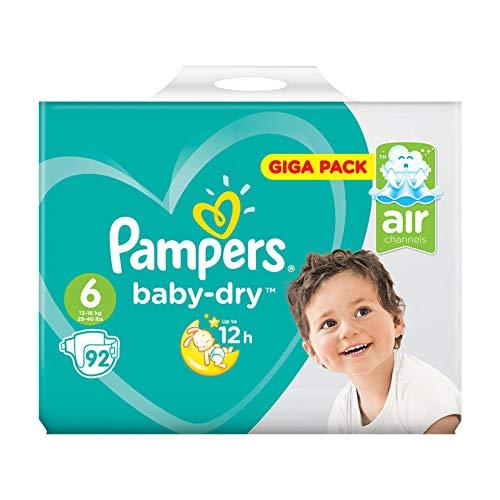 Pampers Baby Dry–Pañales de Giga Pack, tamaño 6, 92