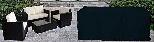 Newsbenessere.com 41swrUX4IAL HBCOLLECTION Premium polyester telo di copertura per divano da giardino, sofà e poltrone 140cm