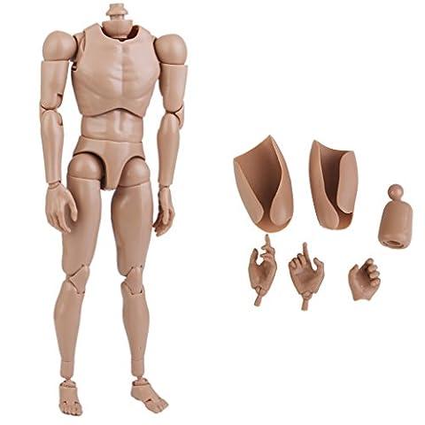 Custom 1/6 large épaule nue figure corps pour hot toys musculaire Club