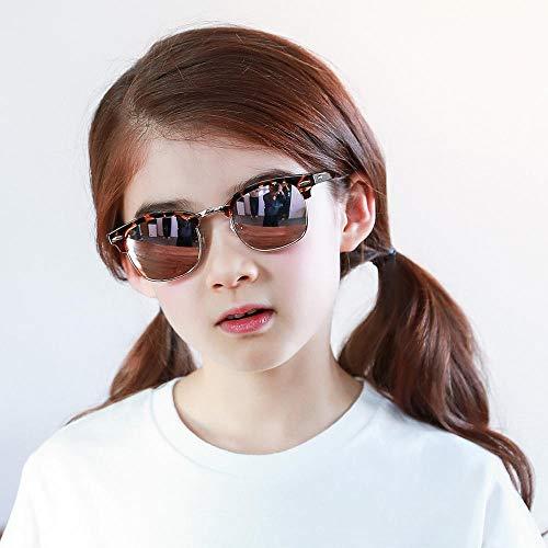 CYCY New Kinder Sonnenblende Jungen Sonnenbrille Mädchen UV-Schutz UV400 Baby-Sonnenbrille Persönlichkeit Mode Kinder Sonnenbrille Brille Wilde Modelle schwarz @ Half Frame Roségold - Bohne Blume