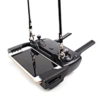 Anbee Mavic Air Lanyard + Neck Strap Hanging Buckle for DJI Mavic Air / Pro / Spark Drone Remote Controller [Does Not Block the Monitor View] from Anbee