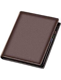 f5d3c2465 Titular de la cartera de la tarjeta de los hombres Cartera corta de cuero  Billetera juvenil para hombres Paquete de tarjeta…