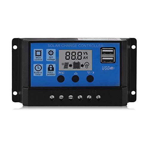 Peanutaod Professionelle Dual USB 12 V / 24 V 10 A Solar Panel Controller Batterieladeregler LCD Display Regler Solar Controller Reverse-charge-system