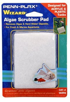 wizzard-acrylic-aquarium-algae-scrubber-fish-tank-cleaner-pad-white-3-x-4-wzp2