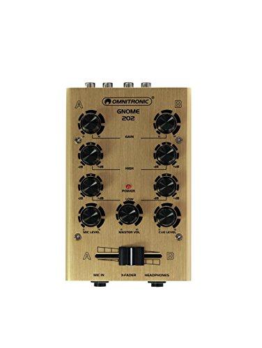 Mini-Mixer gold | 2-Kanal-DJ-Mixer im Miniaturformat | Kompaktes und edles Design ()