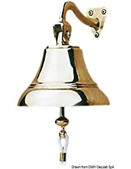 Campana bronzo sonoro 175 mm English: Bronze ship's bell 175mm