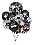 Globos de la noche del fuerte de 42 piezas, decoraciones para fiestas de juegos infantiles, favores de fiesta para niños con globos redondos de aluminio