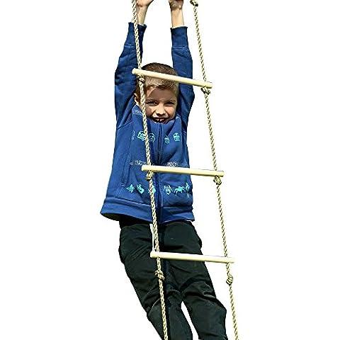 eggdel Parque infantil de madera Escalera de cuerda de escalada para niños interior/outdoor-64pulgadas