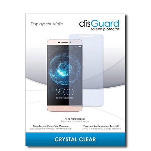 disGuard® Bildschirmschutzfolie [Crystal Clear] kompatibel mit LeEco Le Max 2 [2 Stück] Kristallklar, Transparent, Unsichtbar, Extrem Kratzfest, Anti-Fingerabdruck - Panzerglas Folie, Schutzfolie