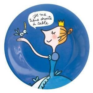Assiette Princesse enfant Je me tiens droite - Petit Jour Paris