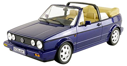 Norev-Miniatur Auto Volkswagen Golf 1Cabrio Classic Line 1992Maßstab 1/18, 188432, blau Metall