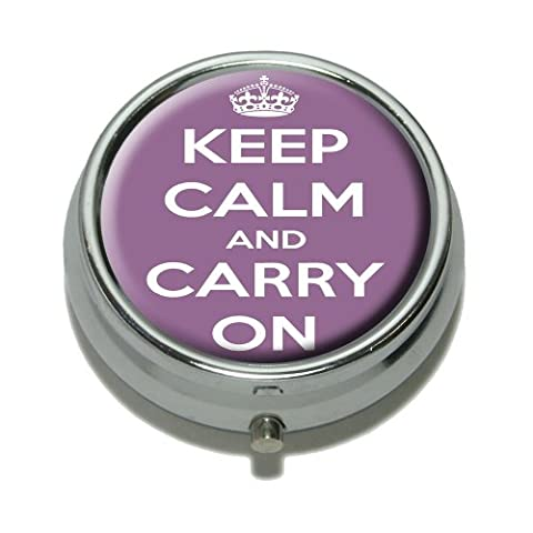 Keep Calm And Carry On Purple Pill Boîte Motif