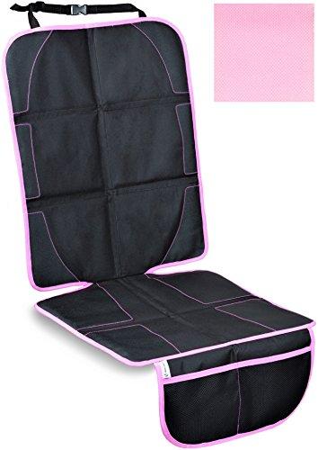 Produktbild Kindersitzunterlage,  ISOFIX geeignete Unterlage für Kindersitze,  Sitzschoner zum Schutz Ihrer Autositze (Rosa)