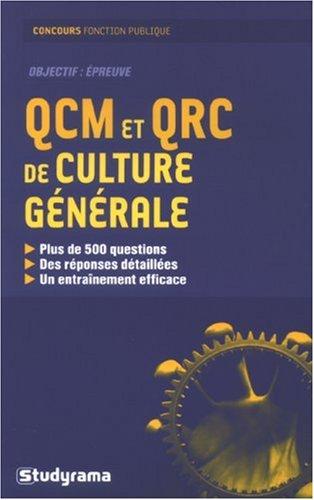 QCM et QRC de culture générale