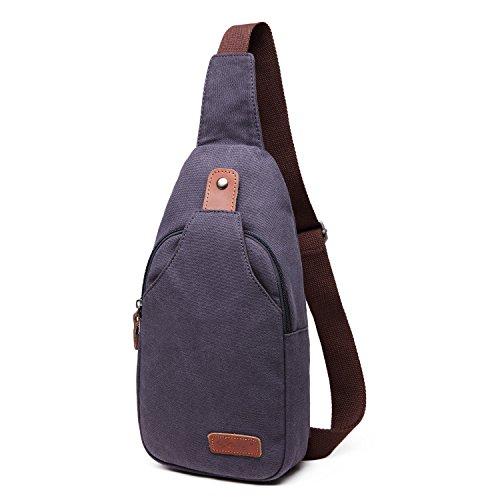 Outreo Borsello Petto Borsa a Spalla Piccolo Borse Tracolla Uomo Sport Tasca Vintage Chest Bag per Outdoor Militare Tasche Viaggio Blu