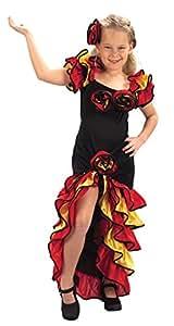 Ballsaal-Flamenco-Kostüm für Mädchen der Altersklasse 3 - 5