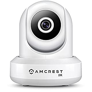 Amcrest UltraHD 2K (3MP/2304TVL) WiFi Video Security IP Camera with Pan/Tilt, Dual Band 5ghz/2.4ghz, Two-Way Audio, 3-Megapixel @ 20FPS, Wide 90° Viewing Angle and Night Vision IP3M-941W (White)
